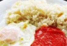 Photo of Receta de Huevos al plato con tomate y arroz