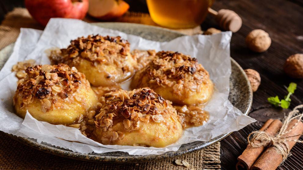 Photo of Receta de Manzanas asadas con miel