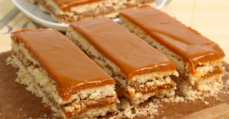 Receta de Tarta de galletas al caramelo 1