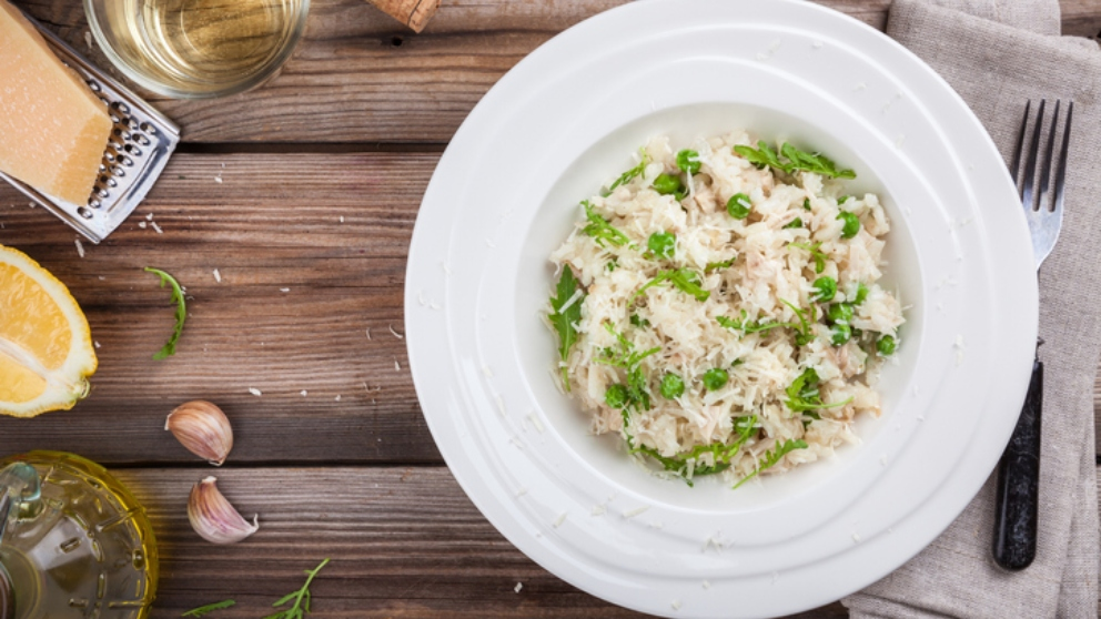 Photo of Receta de risotto de alcachofas y guisantes