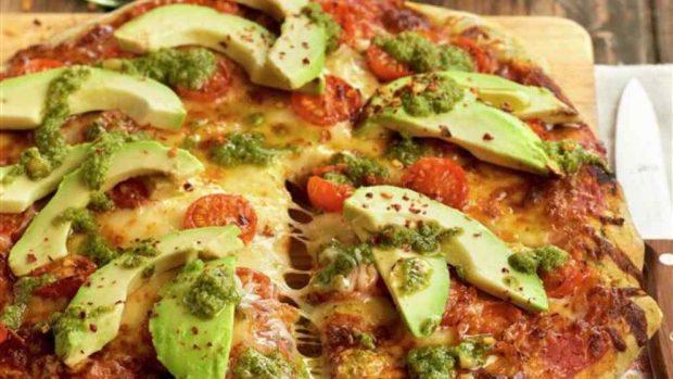 Pizza de carne mexicana