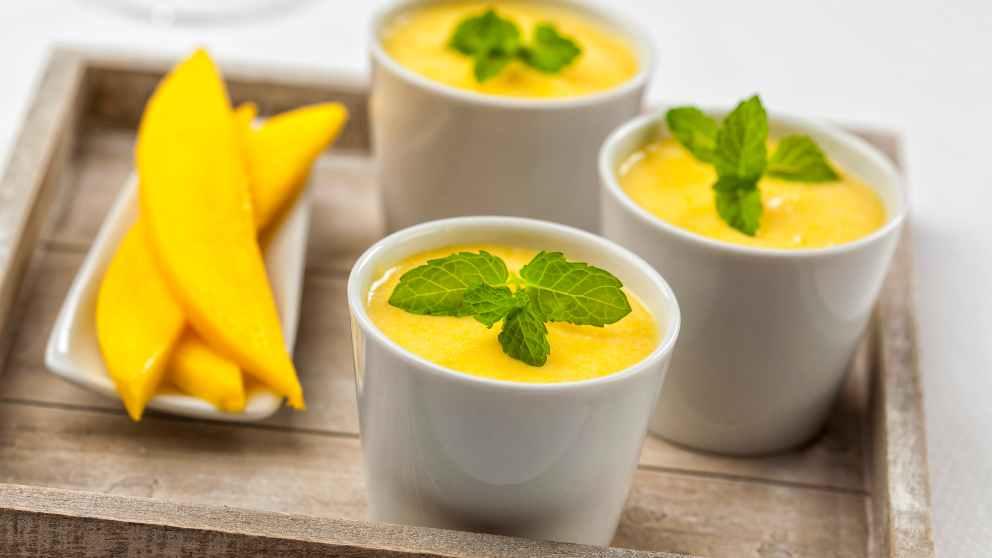 Photo of Receta de Gelatina de mango con espuma de vainilla