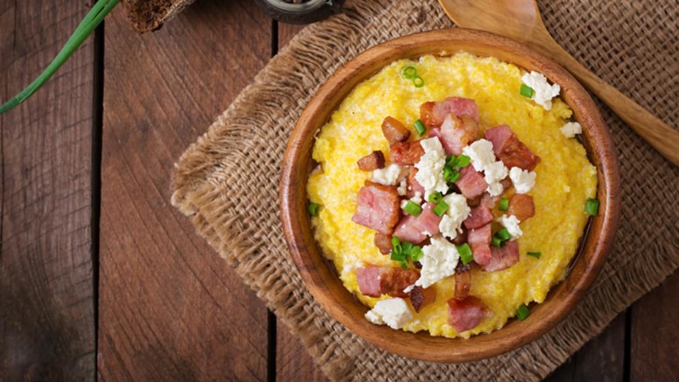 Photo of Receta de polenta con bacon y queso