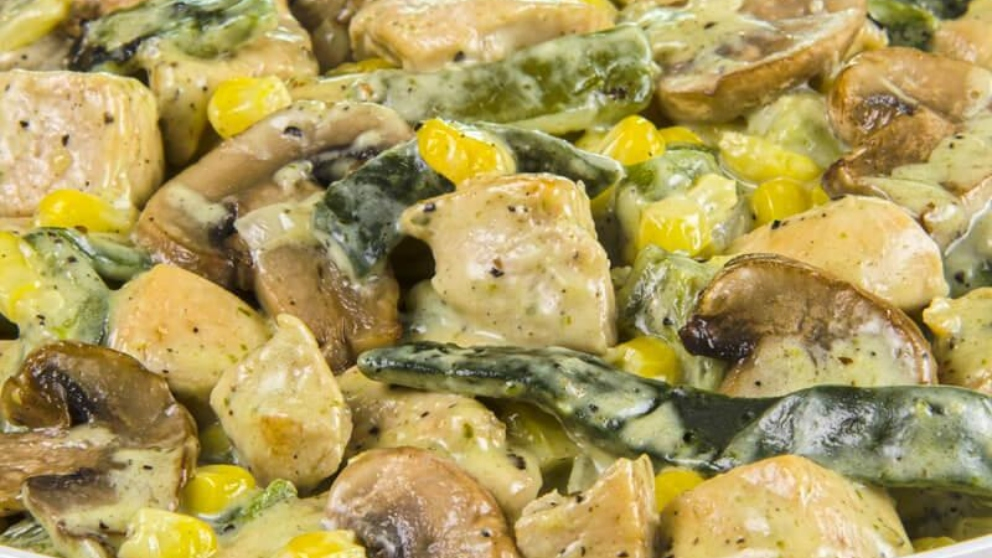 Photo of Receta de Pollo con rajas poblanas