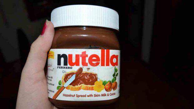 Hojaldre relleno de Nutella y plátano