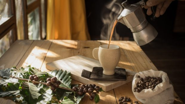 Receta de granizado de café con nueces caramelizadas