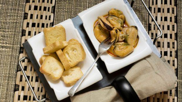 Paté de mejillones en escabeche y atún