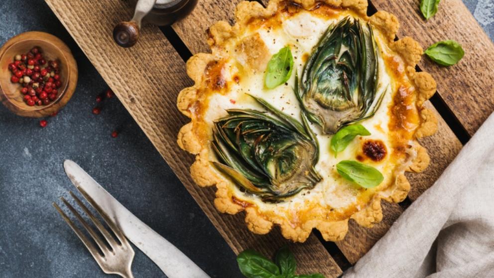 Photo of Receta de corazones de alcachofas con queso de cabra gratinados