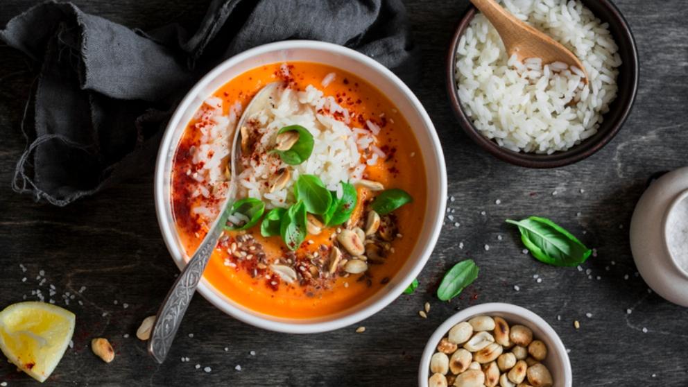 Receta de sopa de arroz con calabaza 1
