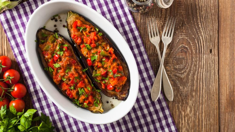 Receta de berenjenas rellenas de verduras con mayonesa 1