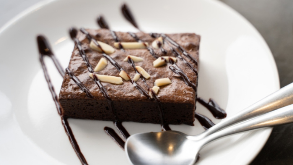 Photo of Receta de brownie de chocolate y mazapán