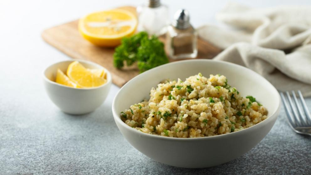 Receta de quinoa con hinojo y puerros 1