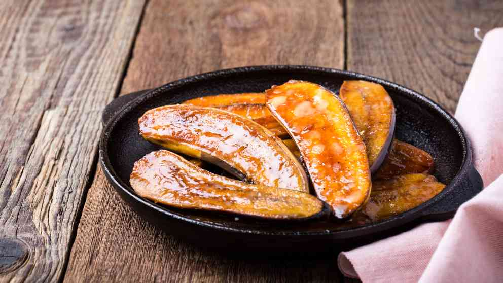 Photo of Receta de Plátanos horneados en salsa de naranja