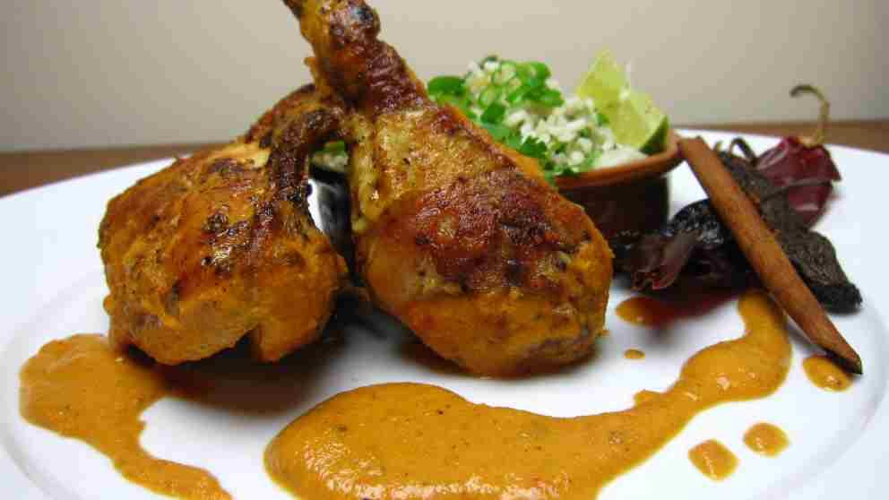 Receta de Pollo en salsa de azafrán 1