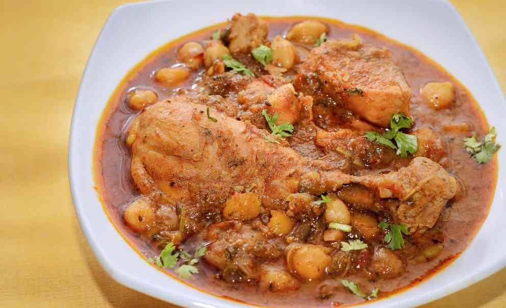 Photo of Receta de Potaje marroquí de garbanzos con pollo