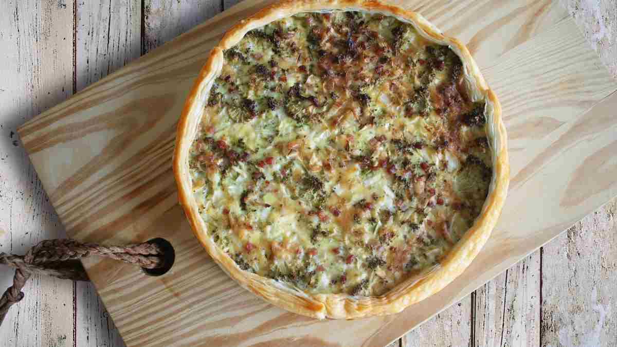Receta de Quiché de queso cabra, calabaza y champiñón 1