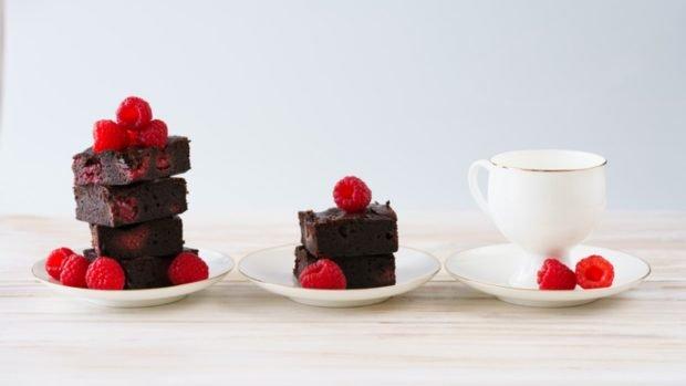 Receta de brownie de frambuesa