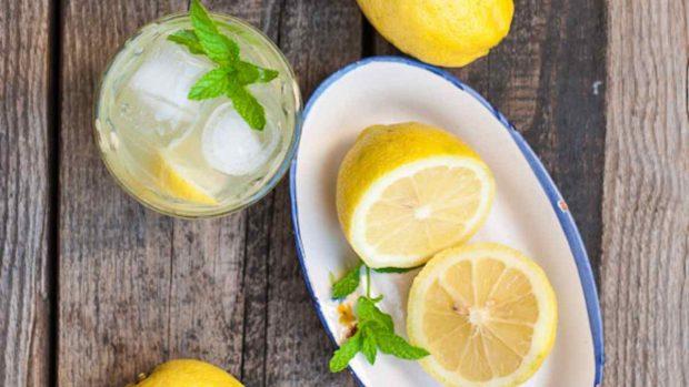 Sorbete de uva, menta y limón
