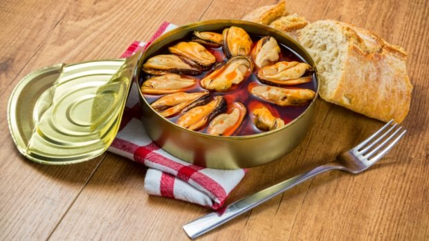 Receta de pasta rellena de mejillones y atún enlatado