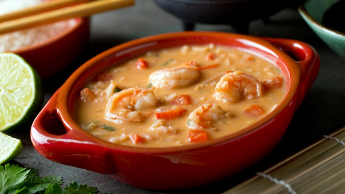 Photo of Receta de arroz caldoso con calamares y gambas
