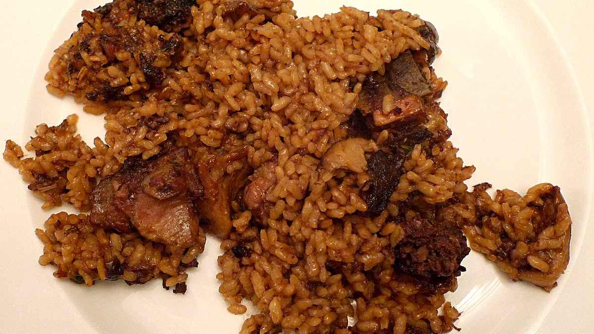 Receta de arroz con secreto ibérico marinado en soja y naranja 1