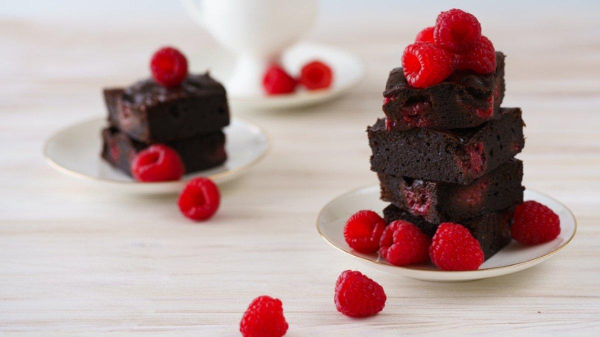 Receta de brownie de frambuesas 1