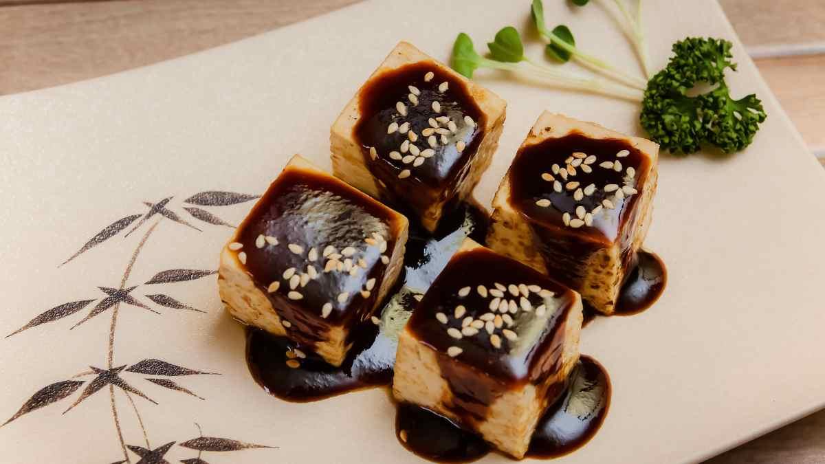 Receta de Tofu en salsa alioli de ajo negro 1