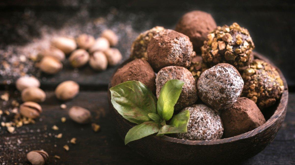 Photo of Receta de trufas de chocolate con frutos secos y avena sin azúcar
