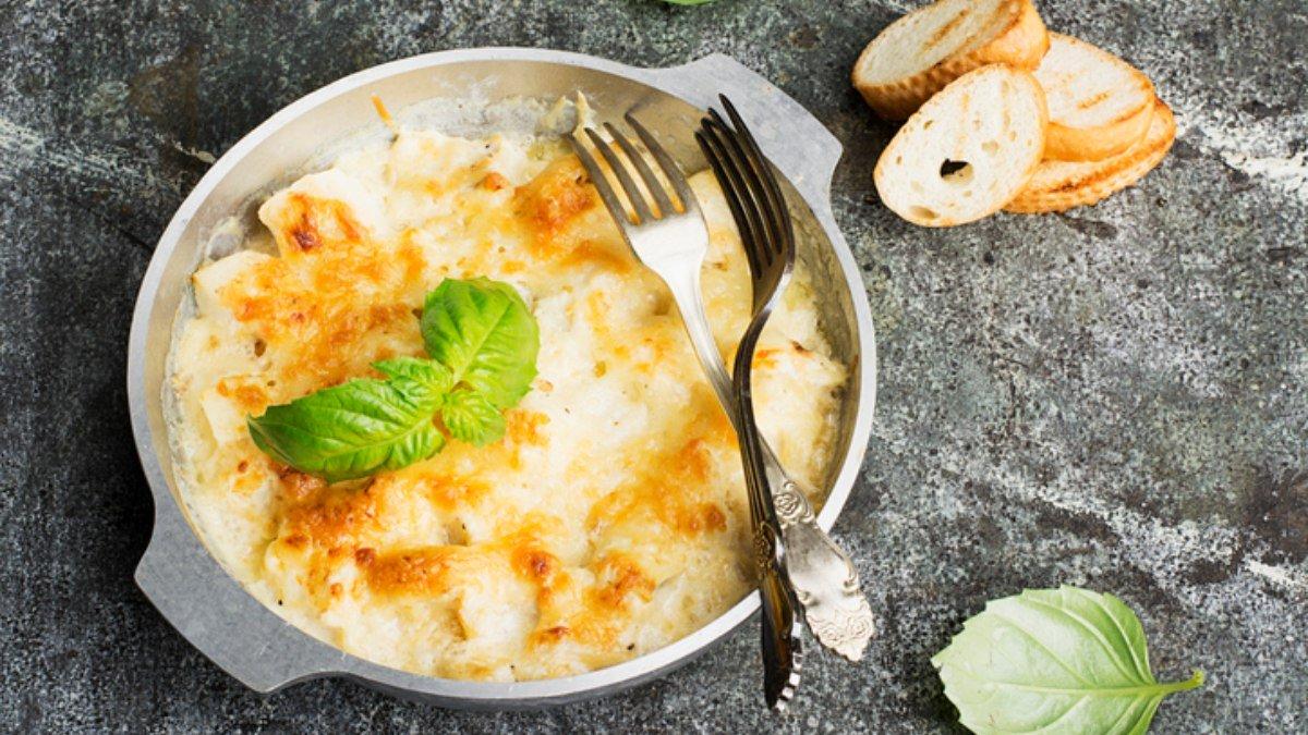 Photo of Receta de lasaña de mango con brandada de bacalao