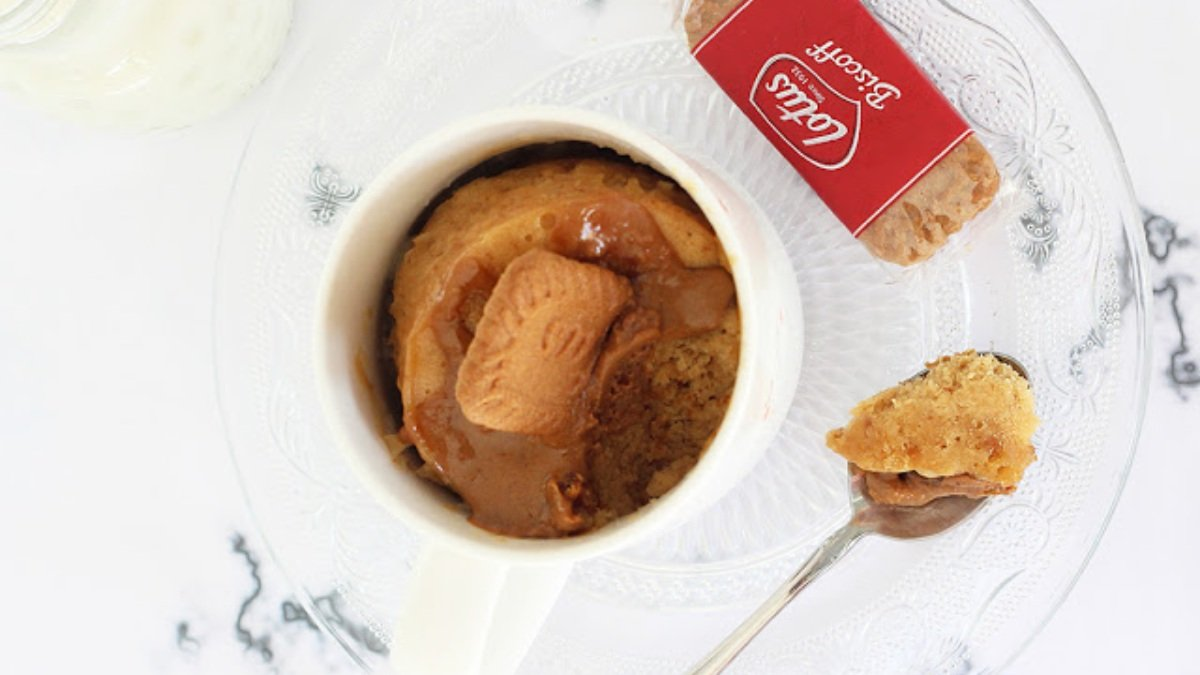 Photo of Receta de mug cake de galletas Lotus