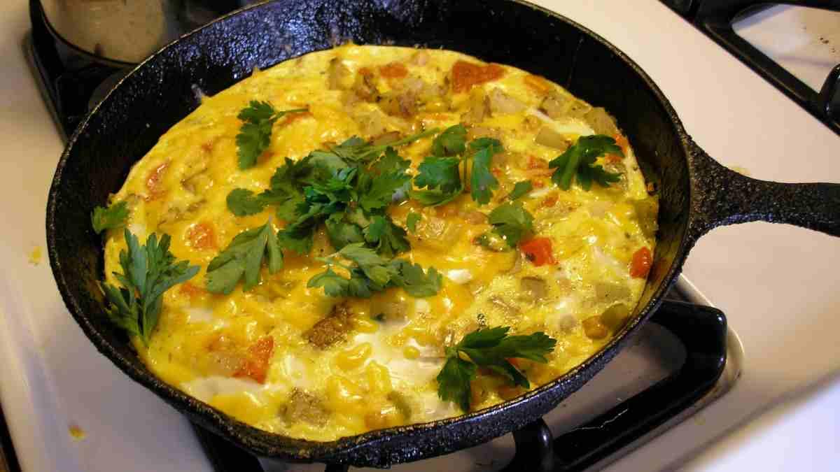 Receta de Deliciosa frittata de yogur y verduras 1