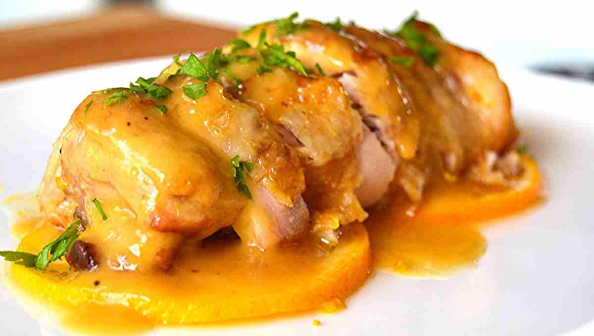 Receta de Pollo glaseado con mandarina y soja 1