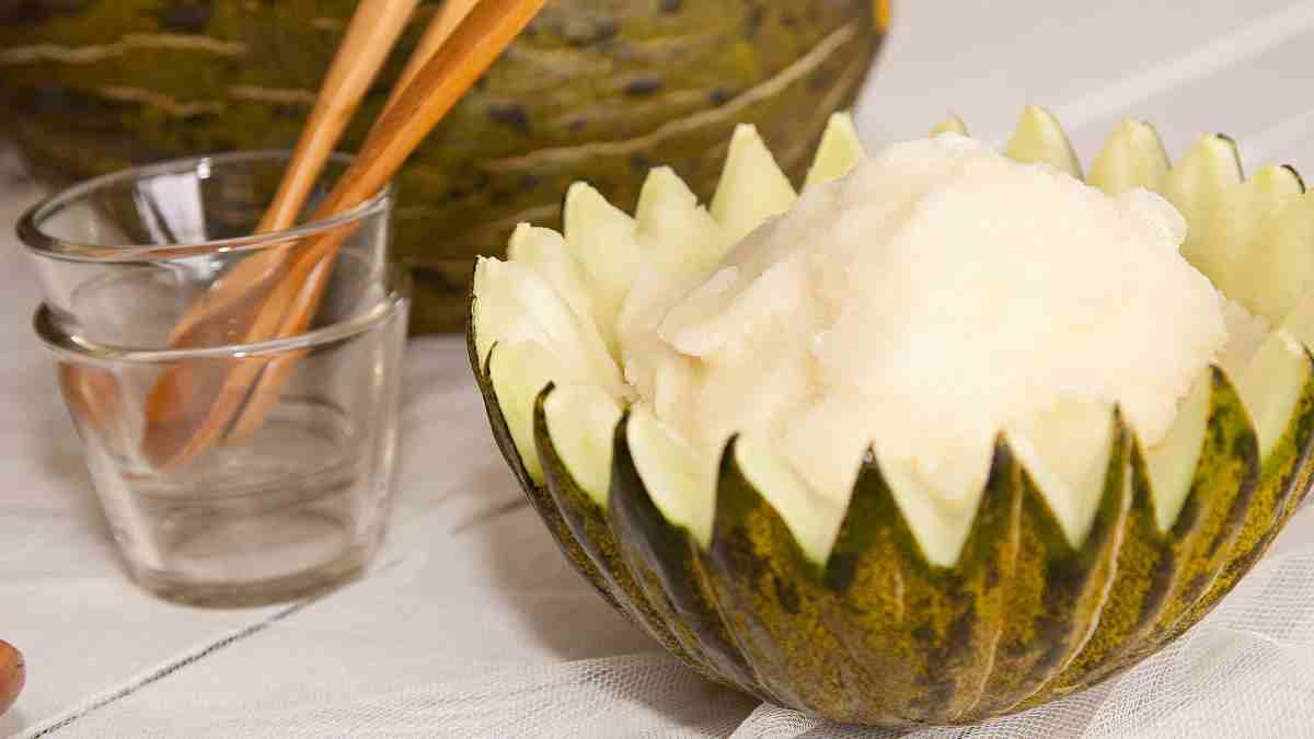 Receta de Sorbete de melón a la menta 1