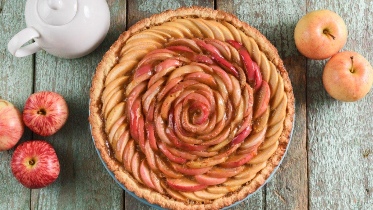 Receta de tarta de manzana rápida y fácil al microondas 1