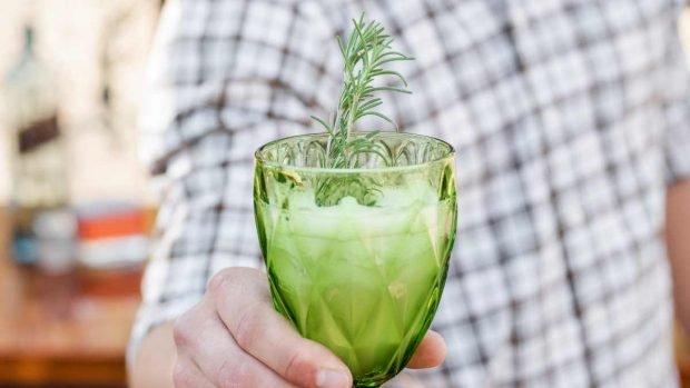 Gelatina de chía y manzana verde