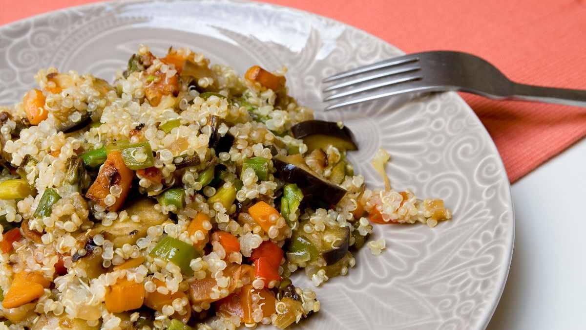 Receta de Ensalada de verduras asadas con quinoa 1