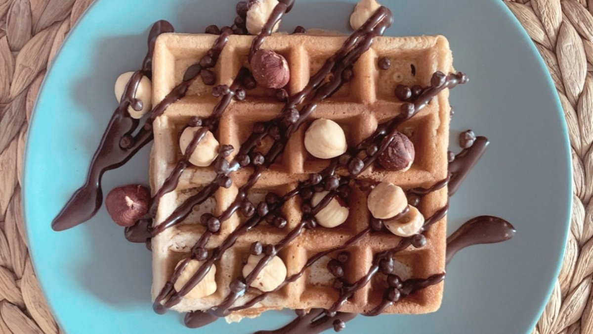 Photo of Receta de gofre sano de chocolate sin azúcar