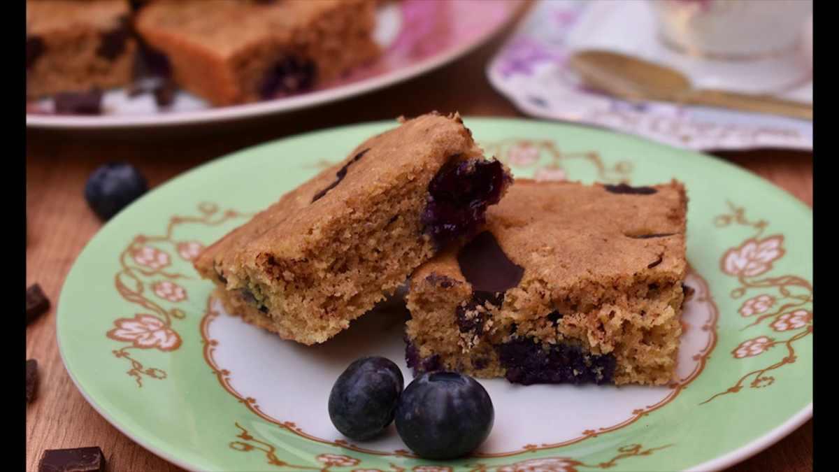 Receta de Pastel de arándanos y cacao 1