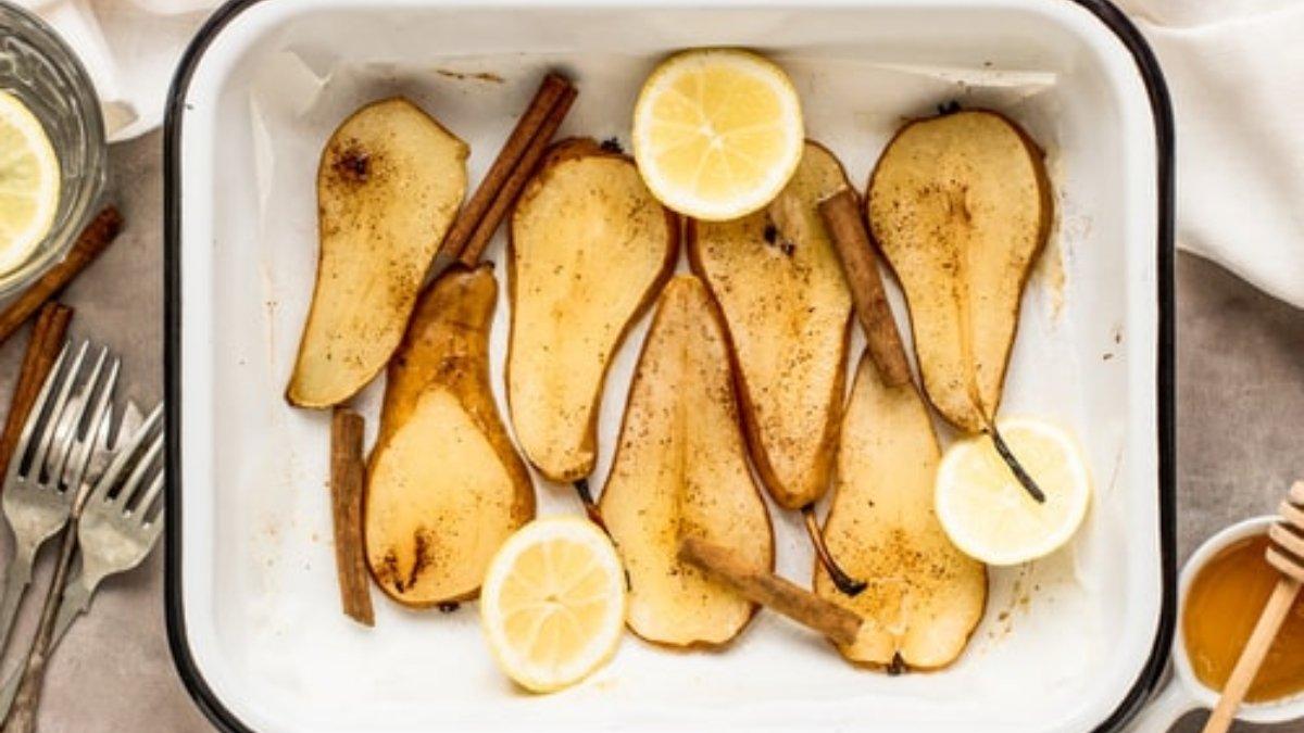 Receta de peras al horno con vino blanco y miel 1