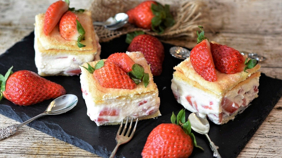 Photo of Receta de tarta helada de fresas con nata