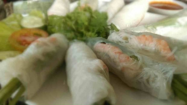 Rollitos de primavera con verduras