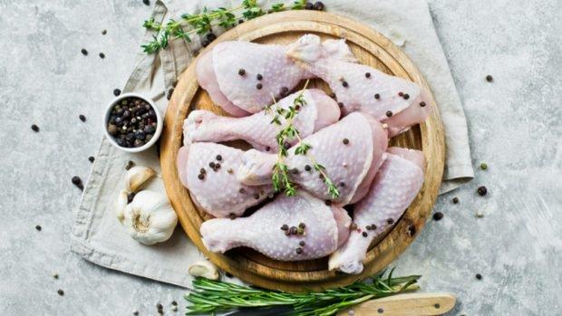 Receta de pollo asado con limón y pimiento