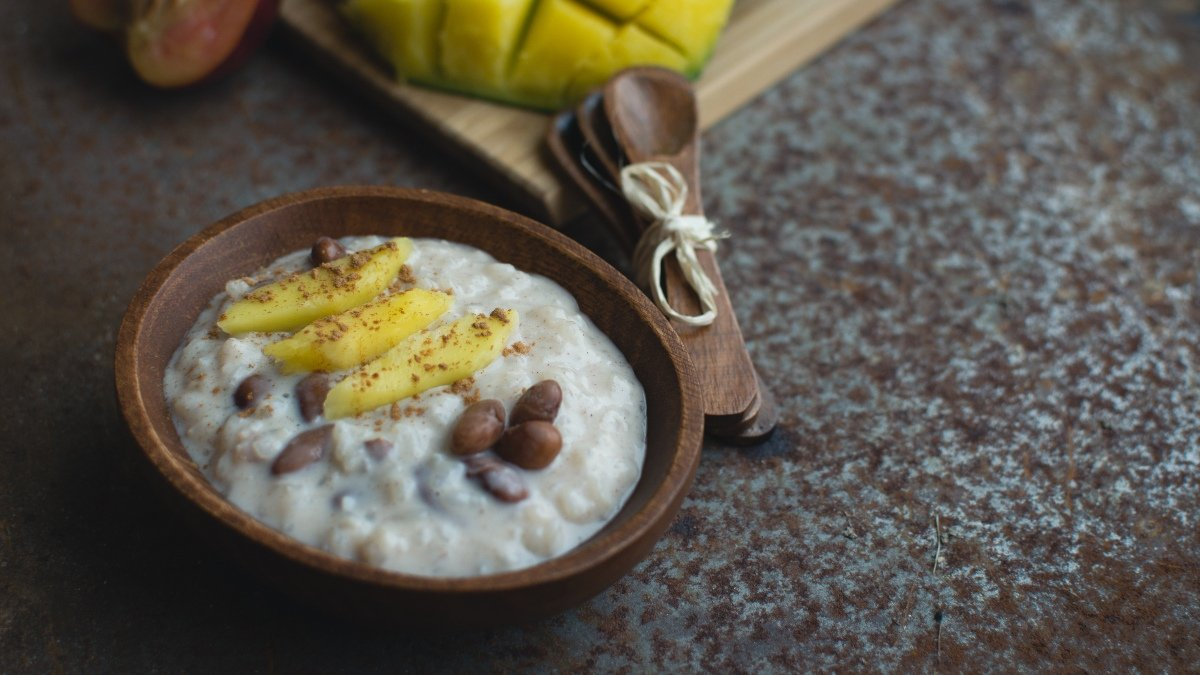 Receta de arroz con leche de coco y mango 1