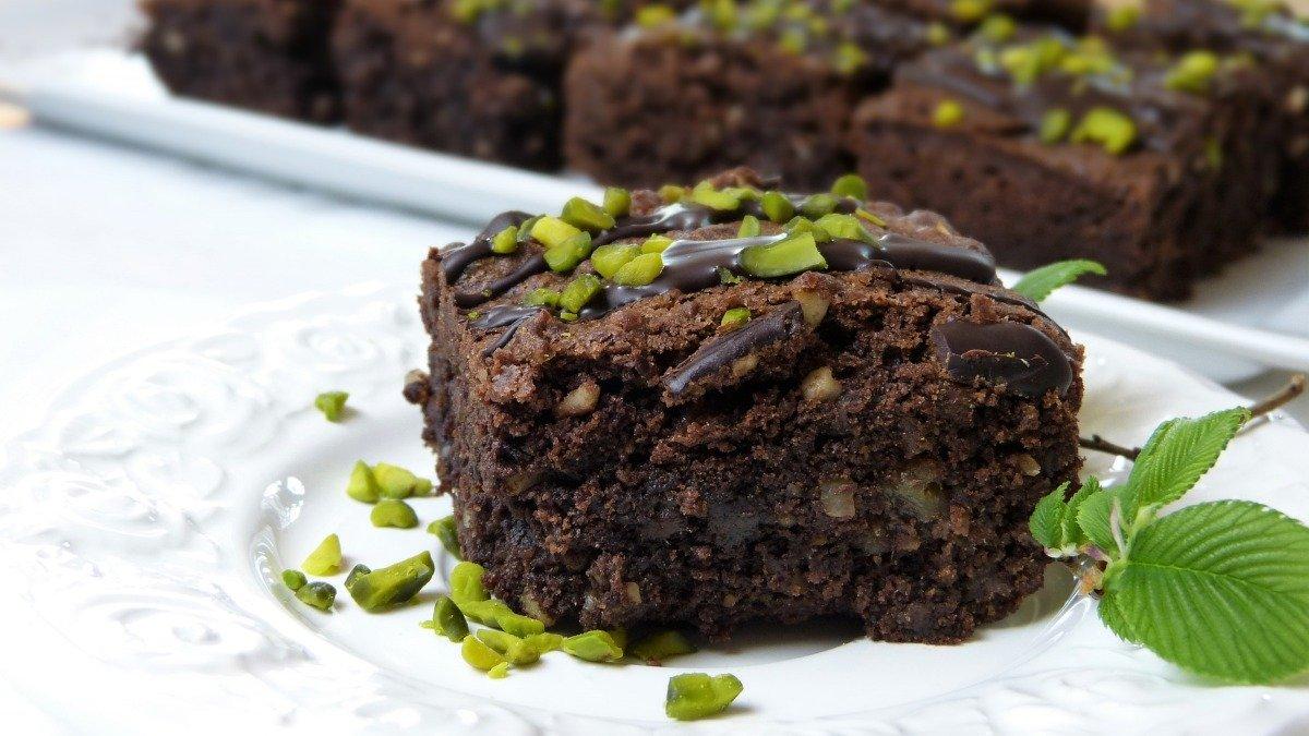 Photo of Receta de brownie de chocolate con pistachos