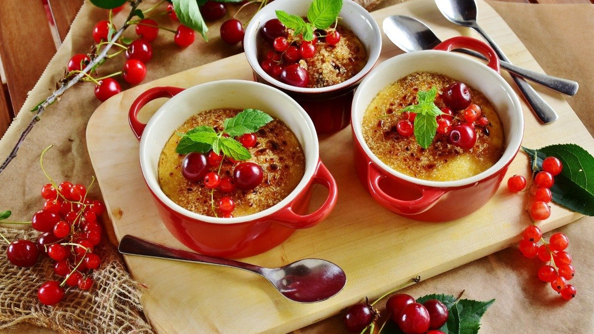 Photo of Receta de crème brûlée de cerezas sin gluten