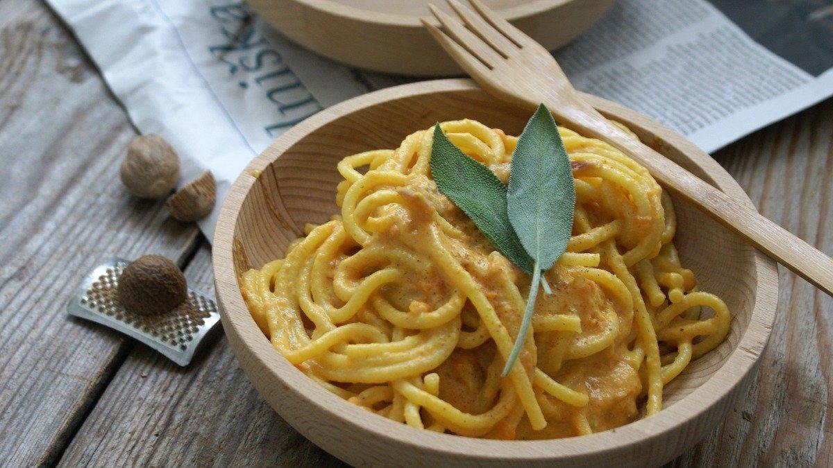 Receta de espaguetis con salsa de calabaza 1