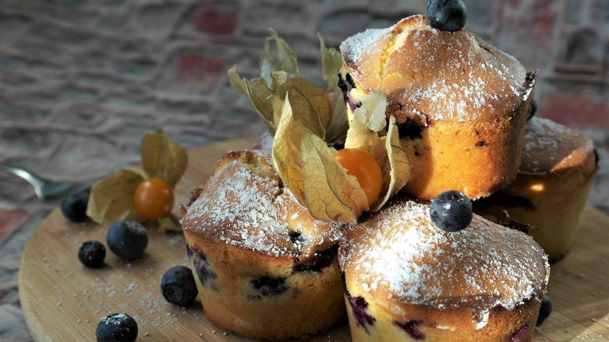 Receta de muffins de arándanos 1