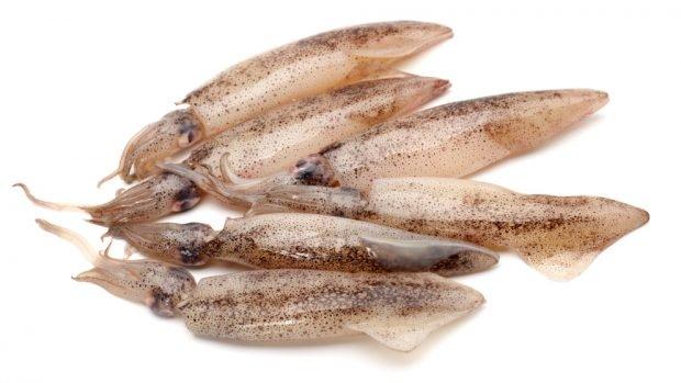 Calamares rellenos de arroz y jamón