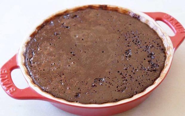 Pudín de chocolate amargo