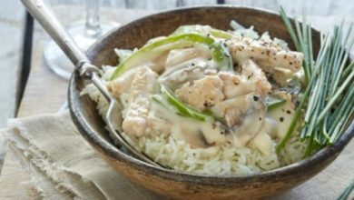 Photo of Receta de arroz con crema de champiñones